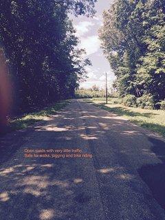 Walk, bike or jog on safe country roads