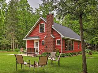 New Listing! Quaint 3BR Birnamwood Cottage w/Patio, Outdoor Fire Pit & Stunning River Views - Located on 40 Acres of Private Land! Close to Walking Trails, Fishing, Dining & More!