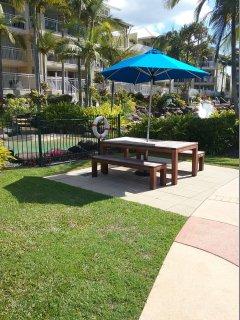 Picnic Tables in resort