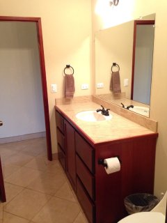 Bathroom vanity with cabinets and drawers