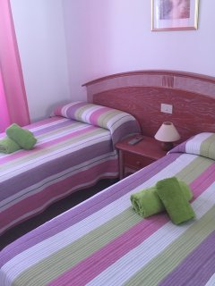 Bright, comfortable bedroom