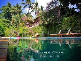 UBUD 3 bedrooms riverview villa+Lap Pool+breakfast