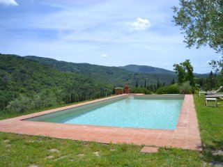 Villa Valle, pool & basketball court, Strada in Chianti