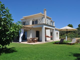 Mountainside lux villa with panoramic sea views above Agios Gordios beach!!