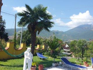 3 appartements à louer dans une villa, avec vue sur le Monte Cassino, Sant'Elia Fiumerapido