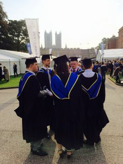 University of Lincoln graduations are conducted  only a few minutes from the