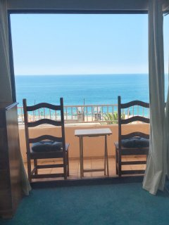 mater balcony w/seating and table to enjoy morning coffee while overlooking the ocean; priceless!