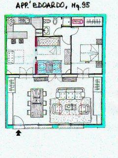Plan de l'appartement Edoardo