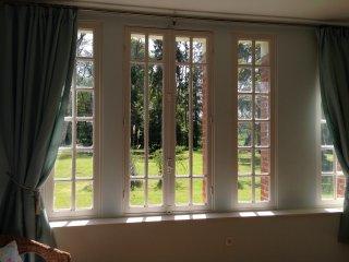 The beautiful bedroom windows