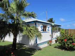 Location de bungalow vue sur mer, Le Moule