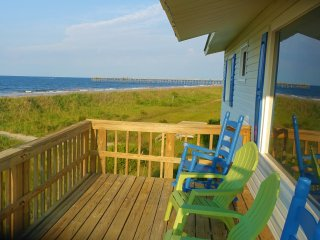 Ocean Front Beach Cottage-180 degrees ocean view from every room and L-deck.