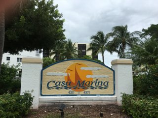 Entrance to Casa Marina condos