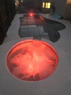 spa / swimming pool at night