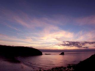 Sunset over Gull Rock