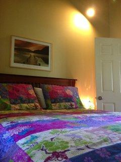 Cozy Upper Level Bedroom with Queen Sized Bed