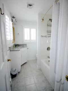 Private en suite full master bath (renovated Spring 2016)