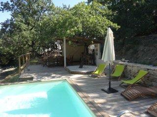 Rez de jardin en Drôme provencale