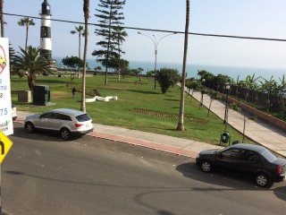 Lighthouse and Ocean Splendour in Miraflores