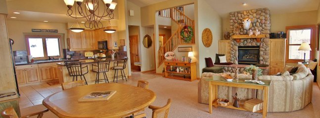 Open Concept combines the Living, Dining, and Kitchen areas