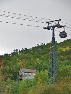 Exterior view of the home and the Gondola