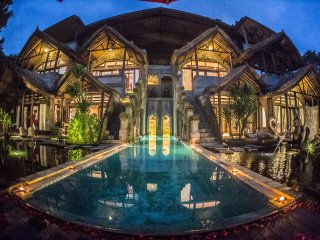 Carved out of Mountain in Ubud with Swimming pool