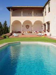 Castle in Chianti with swimming pool near Florence