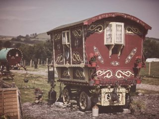 """Rosie"" Gypsy wagon sleeps 2, Willow sleeps 4, B&B, Rhayader"