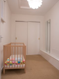 Closet room with cot