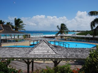 Sunset view, Orient beach condo with pool, Orient Bay