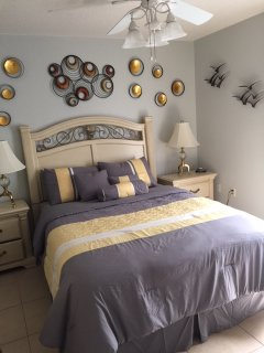 Newly remodeled queen bedroom