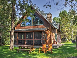 NEW! Lakefront 3BR Nisswa Cabin w/ Fireplace!