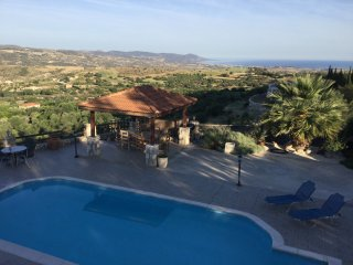 Private Villa in pretty gardens with lovely Pool & Spectacular Sea Views