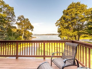4BR, 3.5BA East Boothbay House with Stunning Bay Views and Two Large Decks