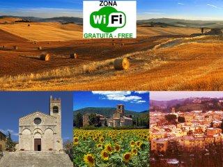 Comfort vicino alle Crete senesi, doppi servizi!