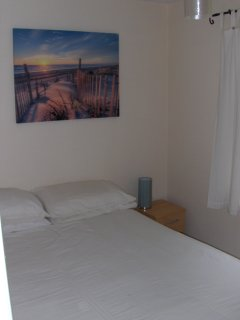 The south facing bedroom - this can be set up as a double bed too