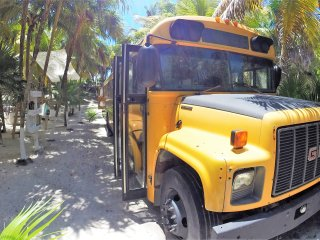 GLAMPING in a SCHOOL BUS Playa Akun by hippieschic, Tulum