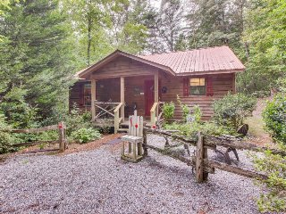 Dog-friendly cabin in the woods w/ private hot tub, screened-in deck & BBQ