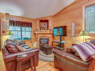 Adorable & dog-friendly w/hot tub, air hockey, firepit! Close to state park!