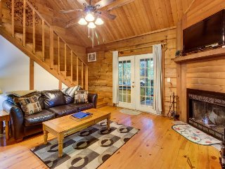 Romantic & dog-friendly log cabin in the woods with private hot tub, Sautee Nacoochee