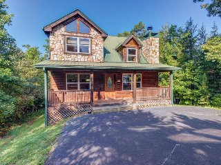 Charming, dog-friendly cabin with two decks, hot tub, waterfall, and more!
