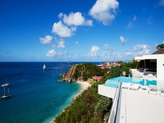 Luxury 5 bedroom St. Barts villa. Great views of the island, ocean and sunset!