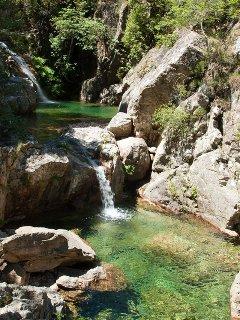 Cascades dans la vallée du Cavu