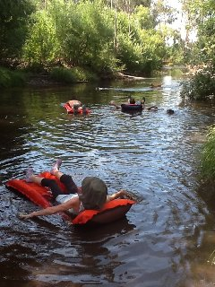 float on lilo's down the Acheron river, only 100m stroll from your room.