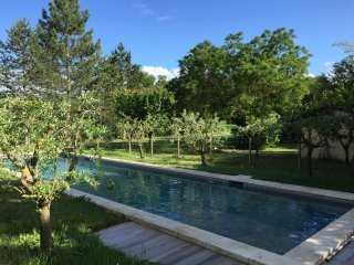 Beautifully renovated farmhouse, bordering a brook, with heated 15x4 pool, Saumane-de-Vaucluse