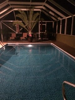 Evening relaxation by the pool!