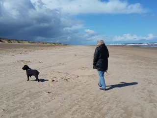 Dog friendly beach, 5 minute walk from chalet