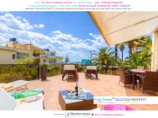 Seaview Apartment 5+2 sleeps Terrace Airco Equipped Kitchen WiFi Beach at 5min, Santa Severa