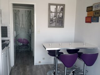Holiday 2room rental, terrace 40 meters from the sea, wifi, sat, 7 floor