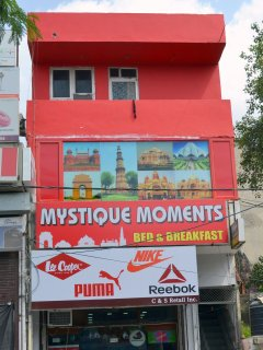 Facade of the Mystique Moments Building