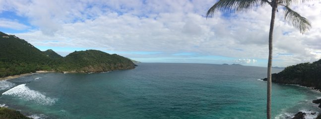 Panoramic view of the Tutu bay from the deck